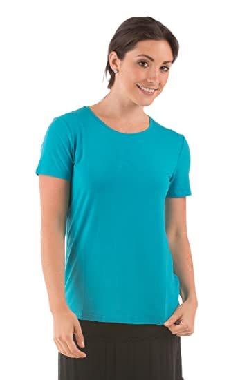 660f784b3c62 Amazon.com  Women s Short Sleeve T-Shirt - Bamboo Viscose Top by ...