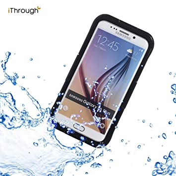 Galaxy S6 Edge Plus Funda Impermeable, iThrough™ Galaxy S6 Edge Plus Carcasa Impermeable, Prueba de Polvo, de Nieve y de Golpe con, Funda Protectora ...