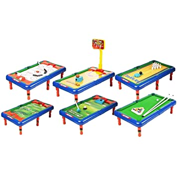 6-in-1 Action Table Top Game