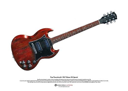 George Morgan Illustration Guitarra Gibson SG Special de Pete ...