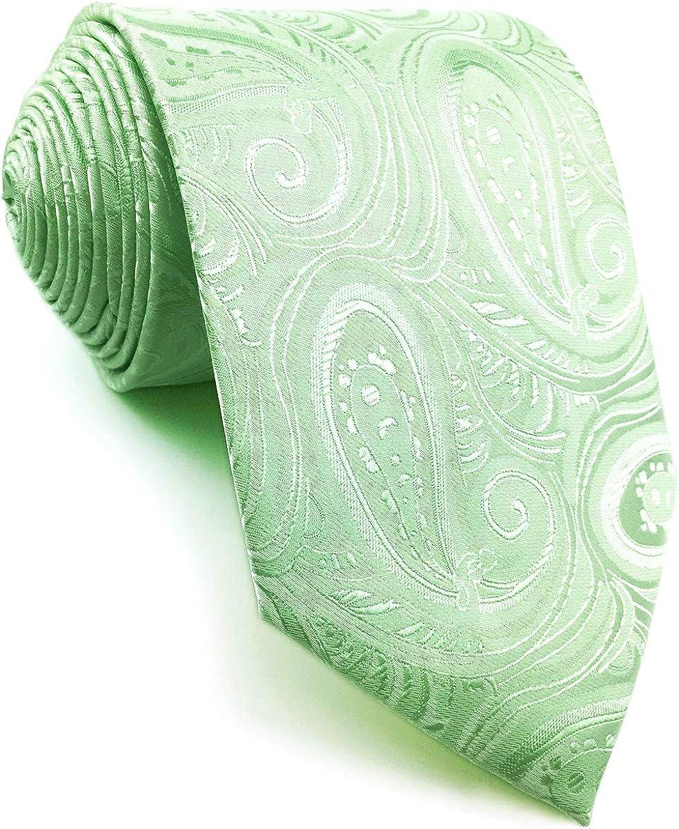SHLAX&WING Cachemir Corbatas Para Hombre Color Sólido Light Verde ...