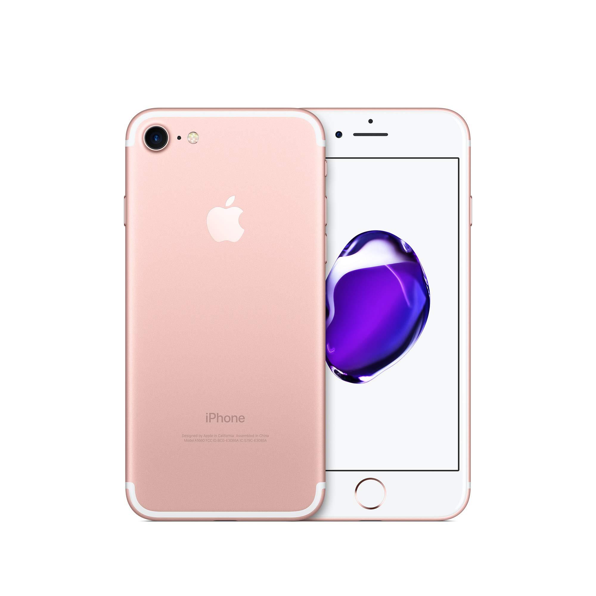 Apple iPhone 7, Verizon Unlocked, 32GB - Rose Gold - (Renewed) by Apple