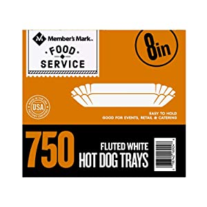 Daily Chef Fluted Hot Dog Tray (8in., 500ct.)