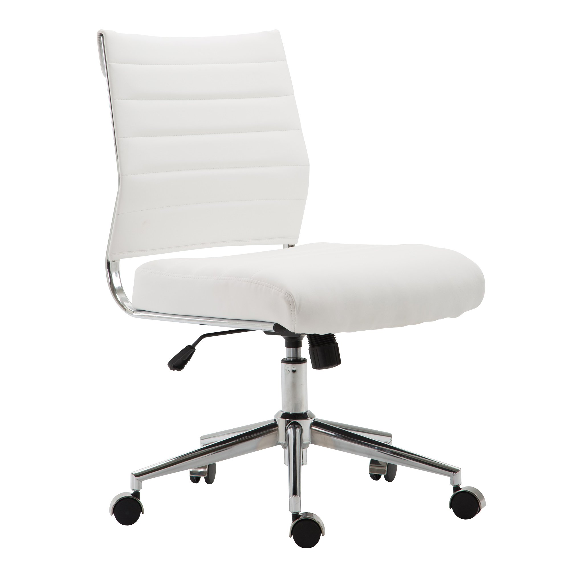 Poly and Bark Tremaine Task Chair in Vegan Leather, White