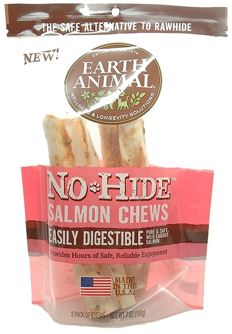 Earth Animal No-Hide Salmon Chews 7'' (Package Contains 2 Chews) by No-Hide Salmon Chews 7'' 2pk (Image #1)
