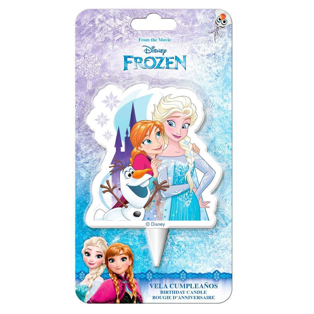 Dekora-2D Olaf Vela de Cumpleaños 2D Frozen con Elsa, Anna Y Ola, Multicolor, 8 cm (346212)