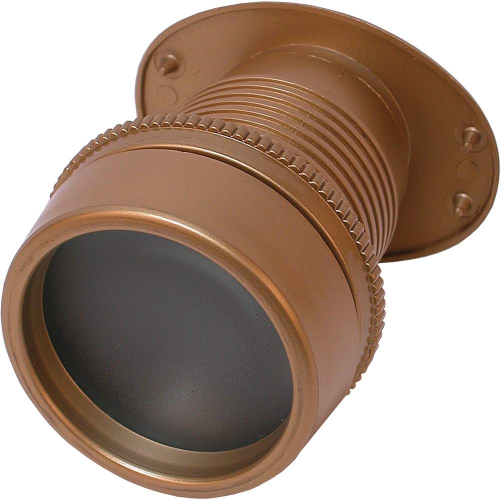 Defender Security U 9915 Giant Screen Viewer, Requires a 1-3/4 in. Hole, High-Impact Plastic, Gold Color