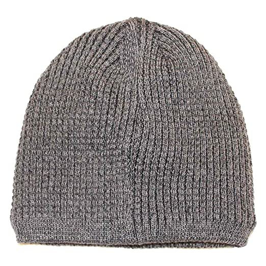 af532c5045a08 Apt 9 Men Black Sherpa Lined Waffle Knit Beanie Hat One Size Grey at ...