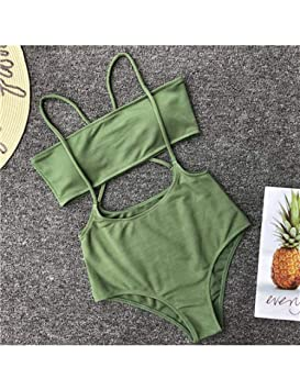 KMCC Bikini Bikini Traje De Baño Mujer Neón Cintura Alta Traje De ...