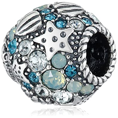 02aaecd9d374f Chamilia Sterling Silver and Swarovski Crystal Buried Treasure Bead Charm