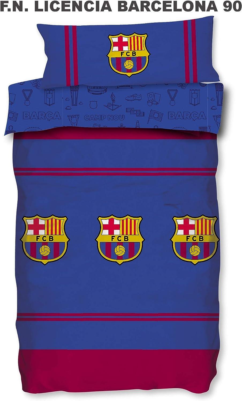 90 cm Funda N/órdica y Funda de Almohada Asditex Futbol Club Barcelona FCB Funda N/órdica 2 Piezas Temporada 2019//2020