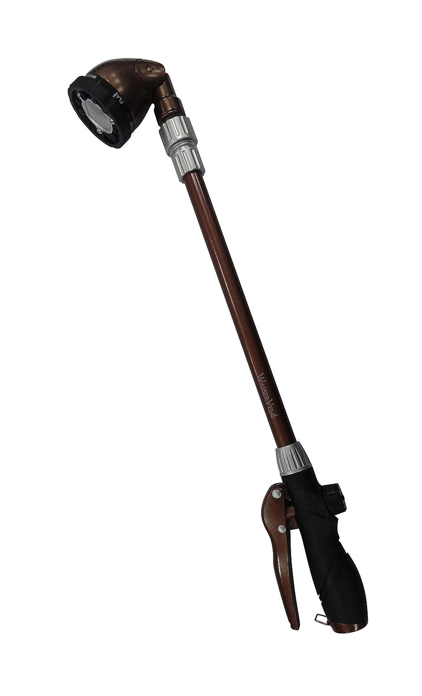 "Wasser Vela Garden Telescoping 25""-36"" 6-pattern Front Trigger Soft Grip Water Spray Pistol Hose Nozzle Wand"