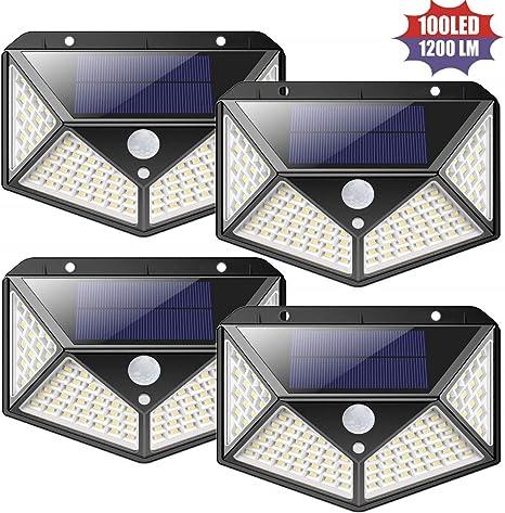 100 Solar LED Light Outdoor Garden Waterproof Wireless Security Motion 3 Modes