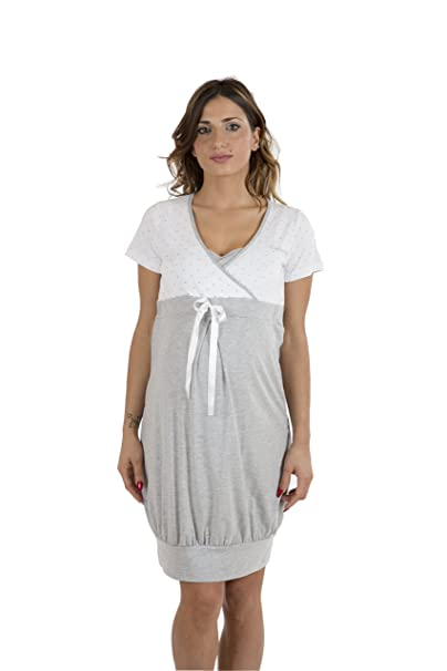 Premamy - Camisón para Maternidad, Estilo Anudado, algodón elástico de Dos vías, pre-Post-Parto: Amazon.es: Ropa y accesorios