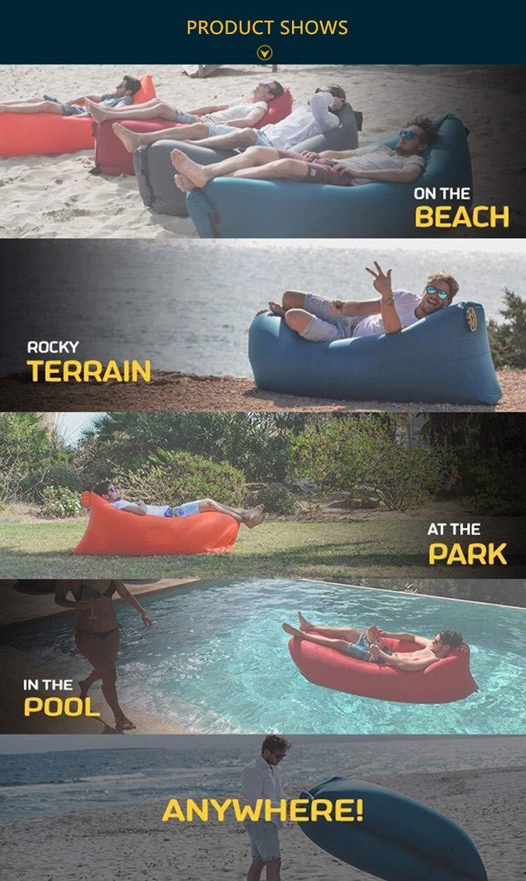 Inflatable Lounger Air Sofa Hammock-Portable,SIX-SEVEN Water Proof& Anti-Air Leaking Waterproof Portable Inflatable Hammock Air Couch Pool, Floor, Camping, Beach (Purple)