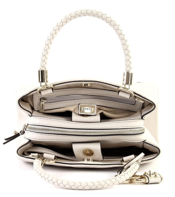 dbc360b6c9a86 GUESS Penelope Girlfriend Satchel Stone  Amazon.co.uk  Shoes   Bags