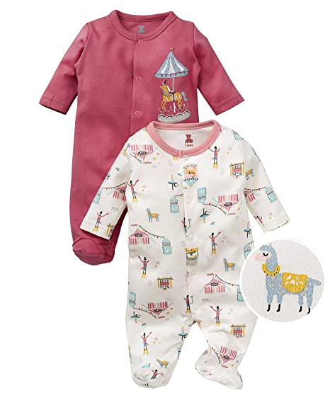 f431938aeb72 I Bears Full Sleeves Footed Rompers Sets Pack of 2