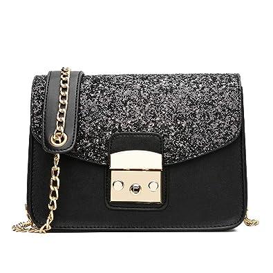 ab44e3d2e12f Amazon.com  Evening Bags and Clutch Purses for Women Crossbody Shoulder Bag  Party Handbag (BLACK)  Shoes