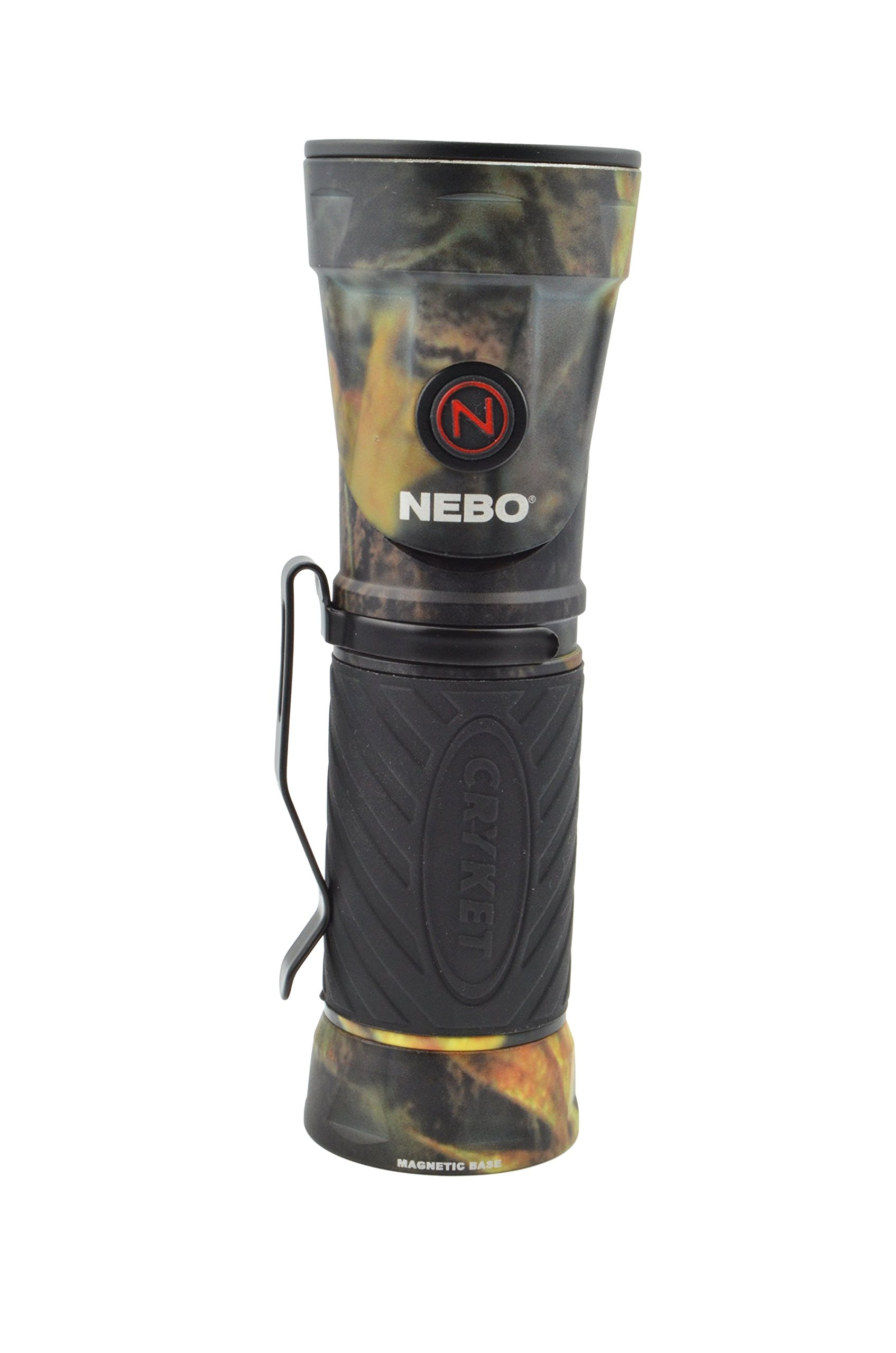 Nebo 6549 Cryket Camo 3-in-1 LED Flashlight/Work Light/Green LED with 8 Nebo AAA Batteries and Lumintrail Keychain Light by NEBO (Image #3)