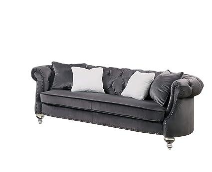 Amazon.com: Best Quality Furniture S320-S Sofa Only, Dark ...