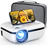 """MOOKA WiFi Projector, 7500L HD Outdoor Mini Projector with Carrying Bag, 1080P & 200"""" Screen Supported, Movie Home Theater fo"""
