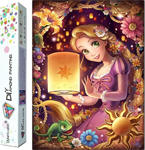 DIY 5D Diamond Painting Kits for Adults,Disney Full Drill Embroidery Paint with Diamond for Home Wall Decor,14x20 Inch