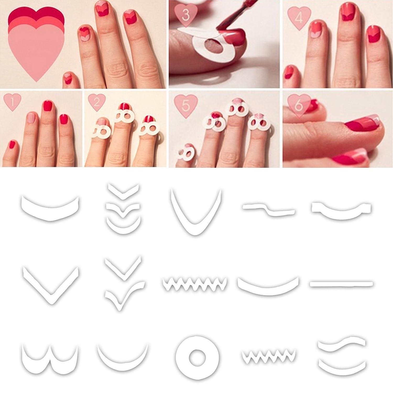 pegatina guia para uñas