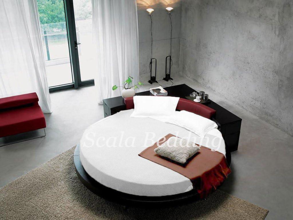Scala Cama Redonda SCALABEDDING Juego de sábanas 100% algodón ...