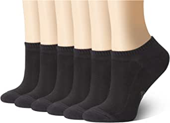 MD Ultra Soft Athletic Bamboo Socks For Women and Men with Seamless Toe No Show Casual Non-Slip, 6 Pack