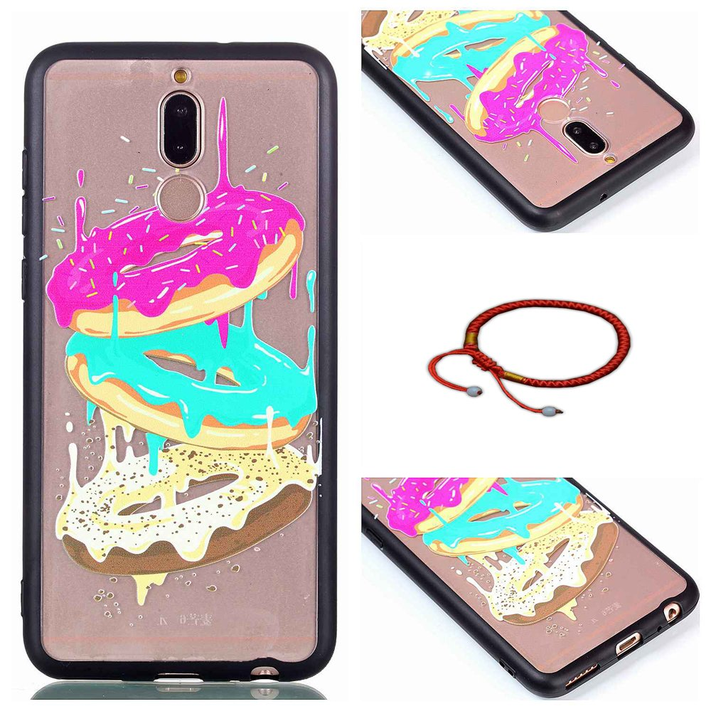 GOCDLJ Huawei Mate 10 Lite Couvrir Coverture Cas Sac Motif Coquille Mode Back Cover, Coque pour Huawei Mate 10 Lite TPU Transparent Gel Silicone Bordure Noire Extra Fine Slim Creative Soft Haute Qualité Case Smartphone Accessory Bumper de Protection Shock