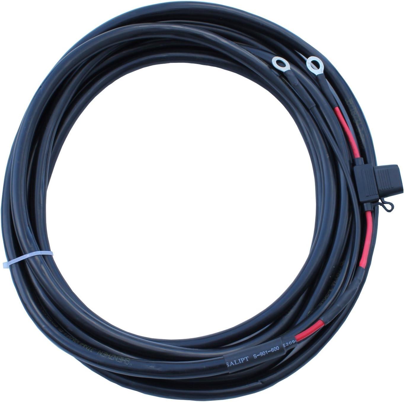 20 A et bague des cosses /à anneau Rallonge Dual Core 5 m 6.0/mm2 avec un porte-fusible 8/mm