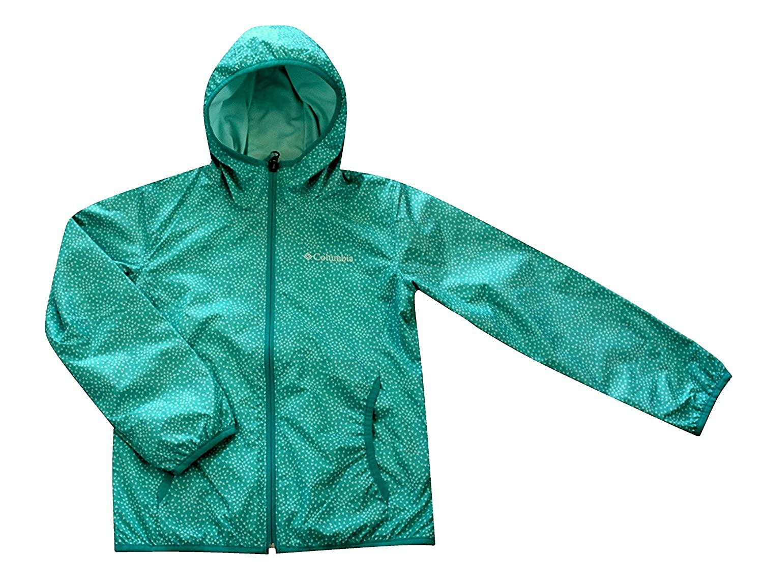 Columbia Youth Girls Whitetail Lined Trail Hooded Jacket S - 8 Green