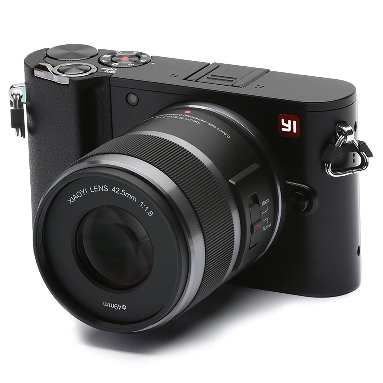 YI M1 Mirrorless Digital Camera with 42.5mm F1.8 Lens Storm Black(US Edition)