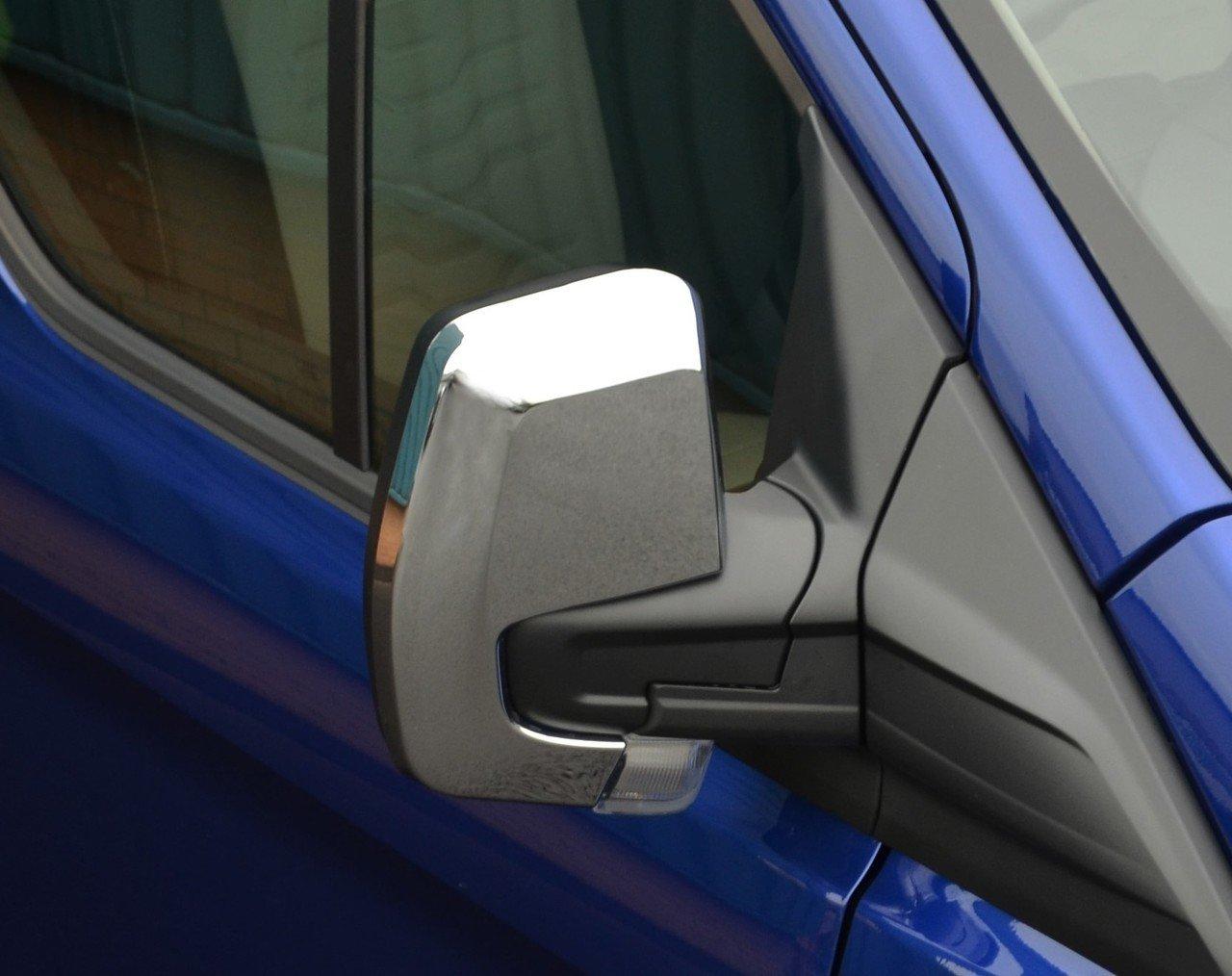 Juego de cubiertas para espejo retrovisor cromado para adaptarse a Transit Custom (2012 +): Amazon.es: Coche y moto