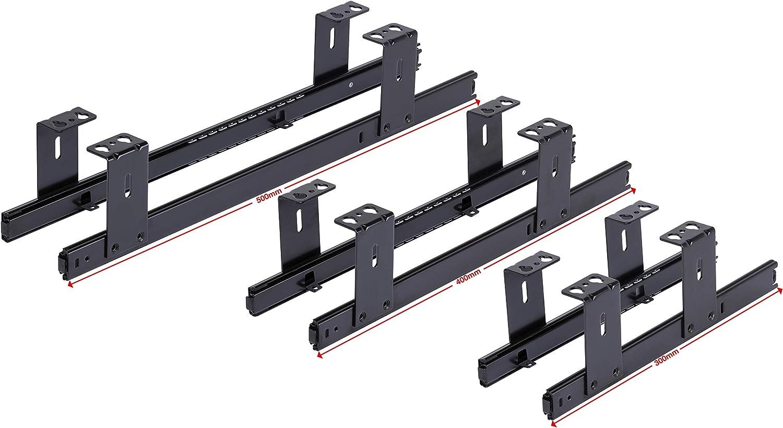 Auszugschienen schwarz 300mm FIX/&EASY Tastaturauszug mit Tastaurablage 600X300mm Wei/ß Dekor Set Ablage mit Auszug f/ür Tastatur Maus Keyboard Laptop