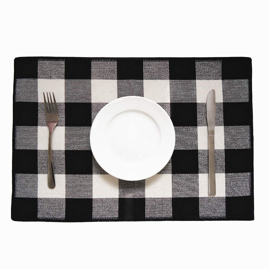 Awe Inspiring Levinis Cotton Placemats Set Of 6 Durable Buffalo Check Place Mats For Kitchen Table Easy To Care Machine Washable Download Free Architecture Designs Scobabritishbridgeorg