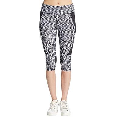 f30425af7fff1 Calvin Klein Performance Womens Quick Dry Stretch Capri Pants B/W XL