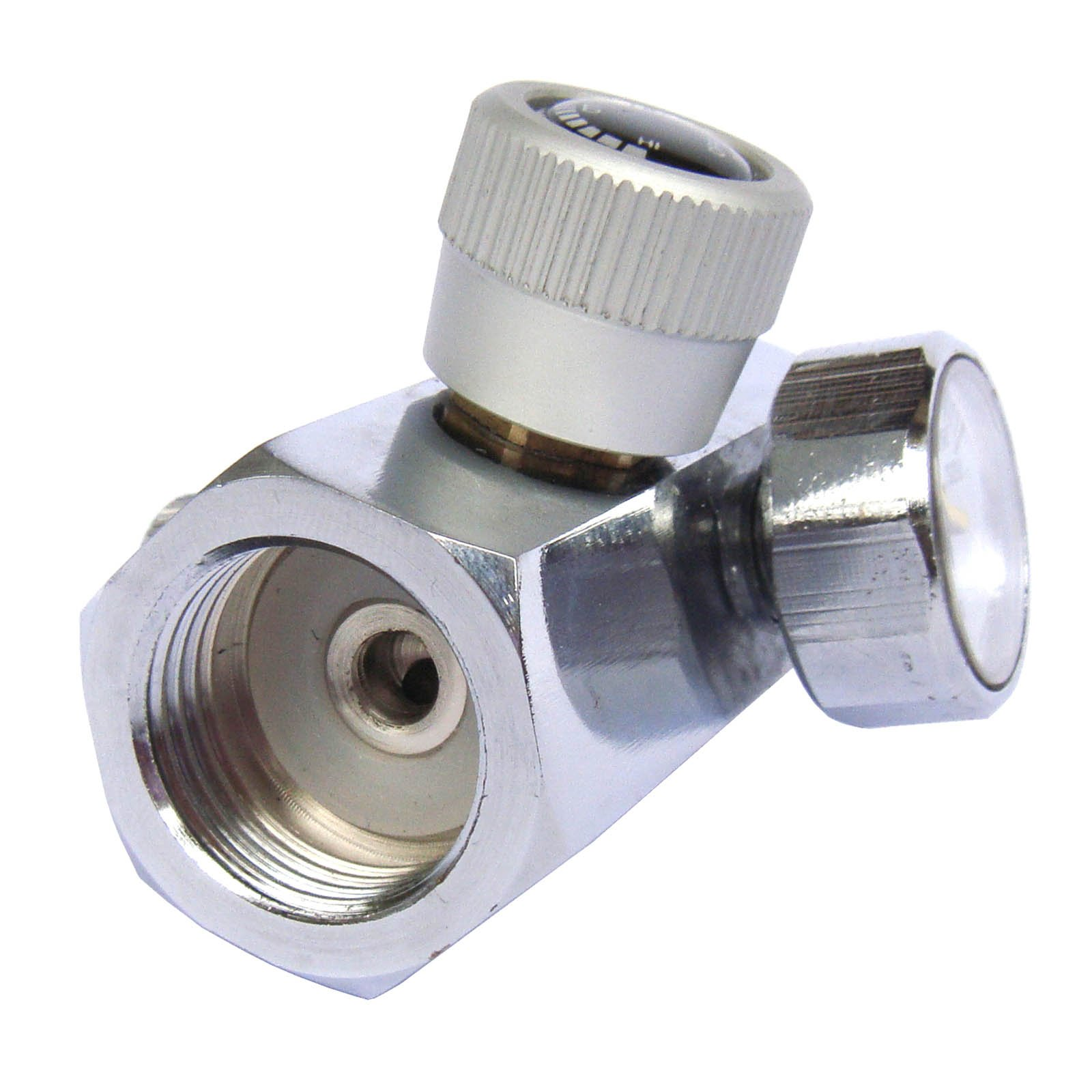 CO2 Fill Adapters On//Off for CGA320 tank with DIN 477 W21.8-14 Outer Thread