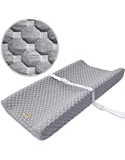 Ultra Soft and Contoured Waterproof Bamboo Changing Pad Cover for Baby by BlueSnail (GREY)