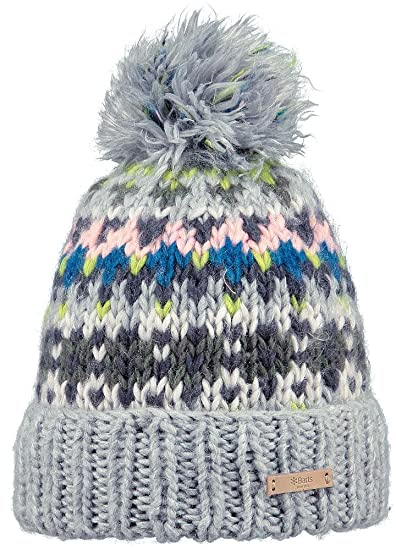 Barts Leitha Beanie Heather Grey  Amazon.co.uk  Clothing 7d796720a799