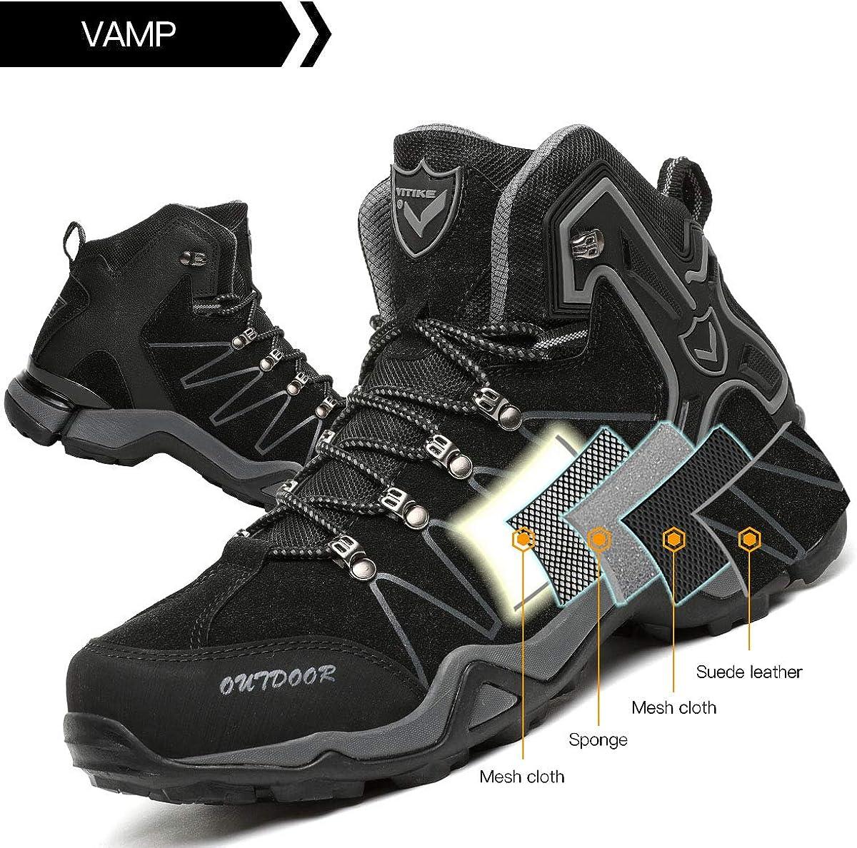 Chaussures de Randonn/ée Hautes Homme Bottes Trekking Outdoor Sport Sneakers pour Homme