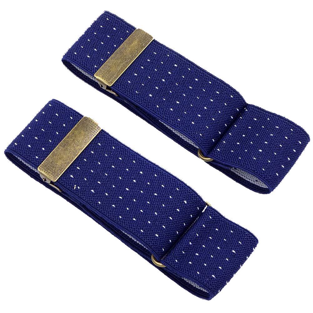 Tenchif Elastic Adjustable Armband Sleeve Garter for Men