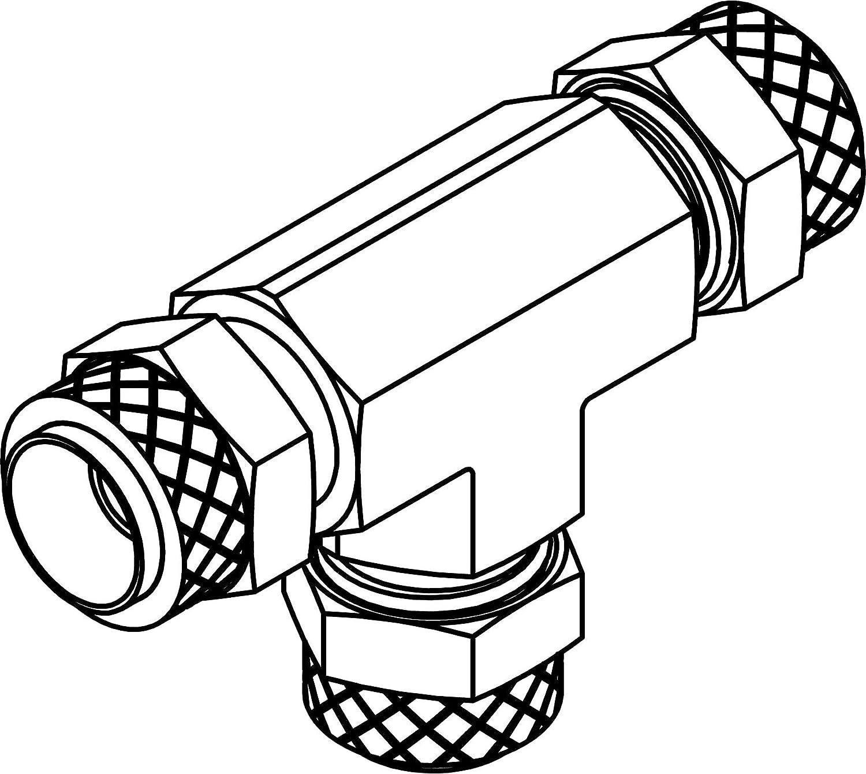 Brass 1//8 x 1//8 x 1//8 Tube Union Tee Tompkins 264P-02-02-02 Poly Flow Fitting
