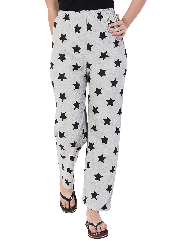 nouveau produit 2c255 08edd Fflirtygo Night Pyjamas for Women, Night Dress, Lounge Wear, Grey Color  Printed Pyjama,–Soft Cotton Night Wear