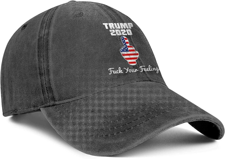 zingyone Trump-2020-American-flag Denim Baseball Caps for Men Baseball Hats Dad Hats