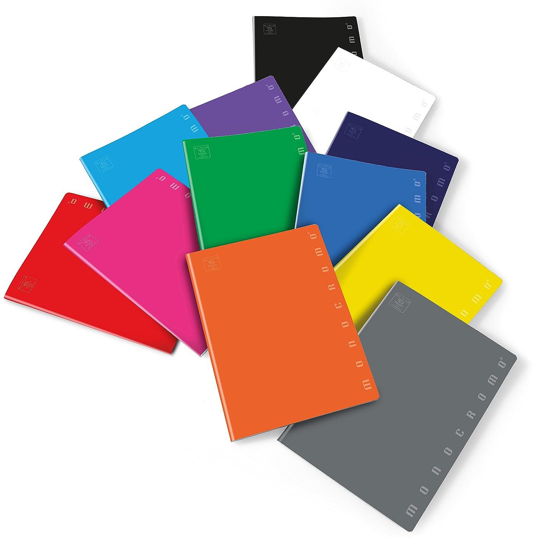 Rigatura Co Rigatura Commerciale Pigna Monocromo 0229887CO Pacco da 10 Pezzi Quaderno Formato A4 Carta 80G//Mq