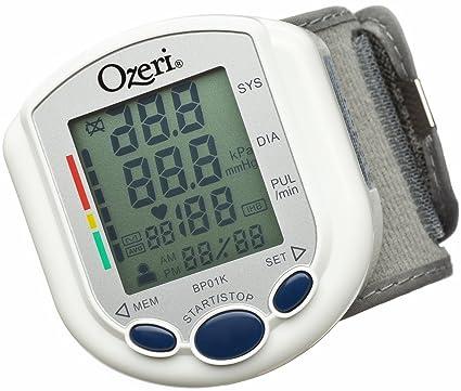 Ozeri BP01K - Tensiómetro Digital con Indicador de Corazón Saludable e Hipertensión