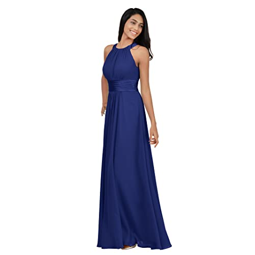 Alicepub Bridesmaid Maxi Dresses Long for Women Formal Evening Party Prom Gown Halter