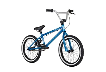 Cuda Shredder 18 Bmx Bike Metallic Blue Silver By Cuda Amazon Co