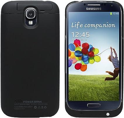 Externe Coque Batterie pour Samsung Galaxy S4 i9500 (3200 mAh) (Avec Kick Stand Media) (NOIR)